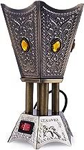 Billion Deals Grey Electric Bakhoor Burner Electric Incense Burner Oud Bakhoor Frankincense for Diwali Gift Positive Energy IB-23 Grey