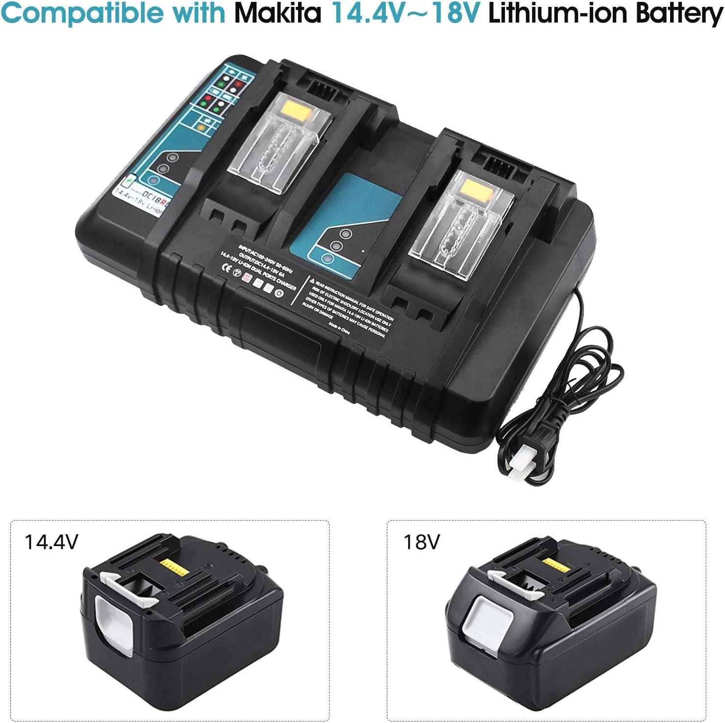 Compatible with Makita BL1415 BL1430 BL1830 BL1840 BL1850 BL1850B ...