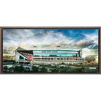 TEXFOTO Cuadro Enmarcado - Estadio Vicente Calderón M. L. Madrid - Fotografía artística y Moderna Listo para Colgar - Hecho a Mano en España (28_x_60_cm): Amazon.es: Hogar