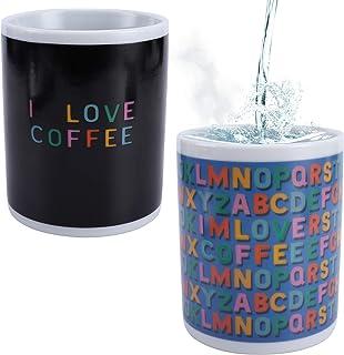 Goporcelain Heat Sensitive Coffee Mug - 11 Fl.Oz Color Changing Coffee Mug - I Love Coffee Heat Changing Mug - Add Coffee ...