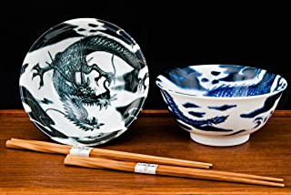 Happy Sales HSTYB-DRGN, Japanese Rice Noodle Ramen Bowls 6