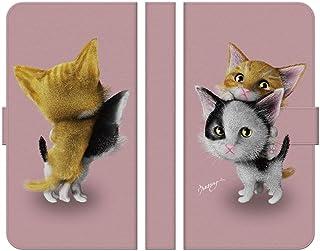 ブレインズ Spray 402LG 手帳型 ケース カバー 子猫ピンク ウエダマサノブ 子猫 猫 グッズ