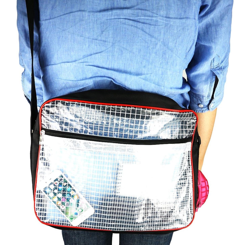 悲観主義者奇跡ガイドラインECShopOne エンジニアバッグ 帯電防止 ショルダーバッグ 透明 クリア クリーンルーム 持ち込み