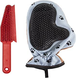 Evriholder FURemover Mitt and Brush Set, 2-Sided Rubber-Like Lint Brush for Couch and Clothes, Cat and Dog Multi Brush, with Pet Hair Remover Mitt for Gentle Washing and Grooming, Colors May Vary