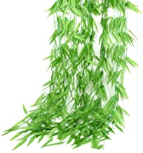 JINL 6Feet Artificial Flower Wicker Rattan Vine Fake Foliage Leaf Flowers Plants Garland Garden Decoration (50pcs)