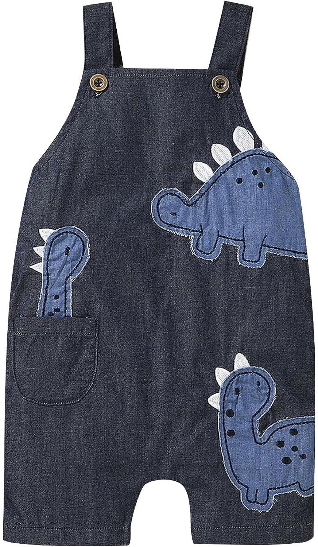 Toddler Kids Baby Boys Casual Cartoon Selling and selling Award Overalls Ju Print Dinosaur