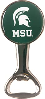 MICHIGAN STATE UNIVERISTY SPARTANS NCAA ROUND MAGNETIC METAL BOTTLE OPENER