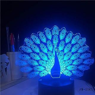 3D Cat LED luz Nocturna USB Cargando Forma Animal lámpara de decoración Interior niños luz Nocturna con Base de Madera para Sala 12 Controlador