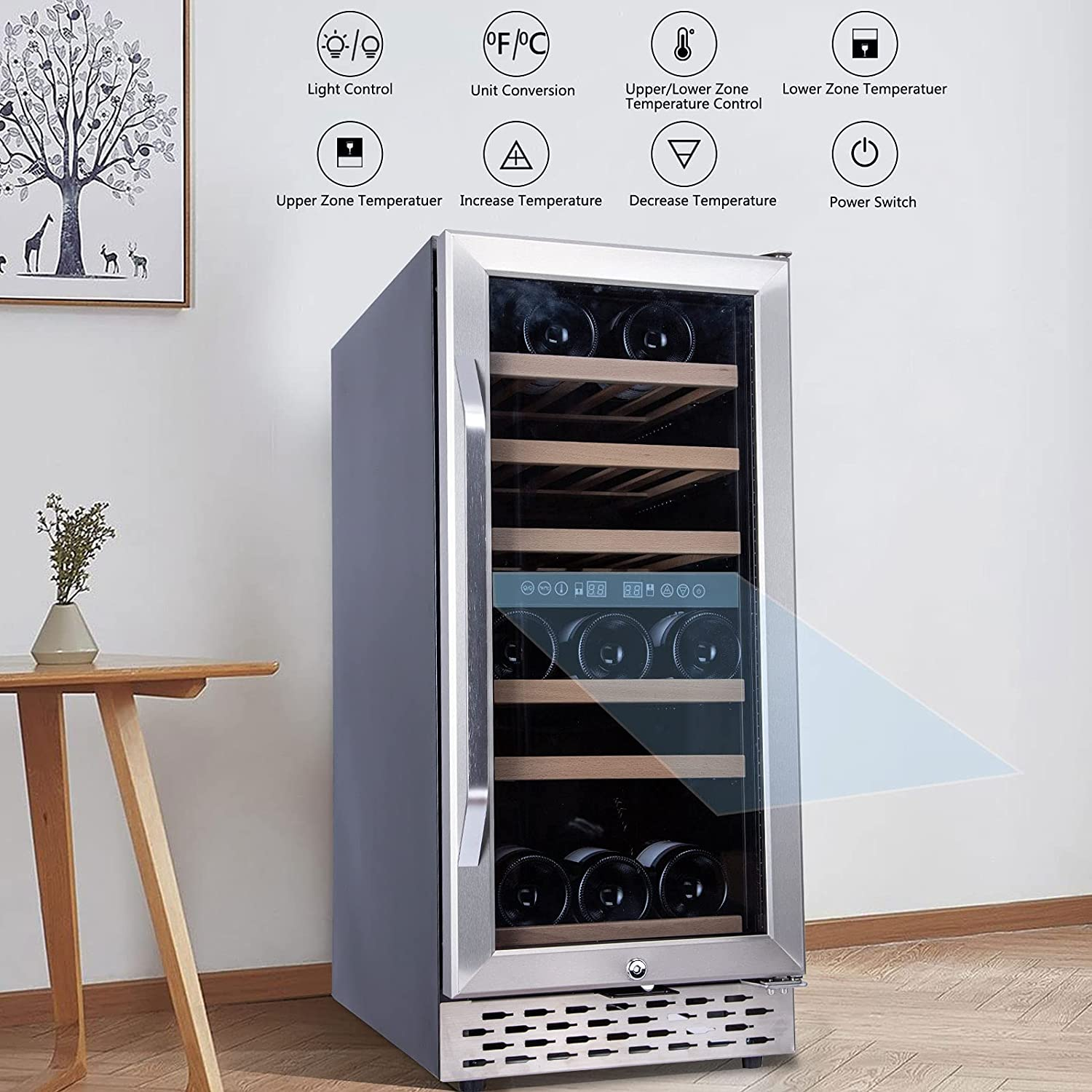 Wine Cooler Dual Zone Cellar Bevera Oklahoma City It is very popular Mall Fast Noise Low Cooling