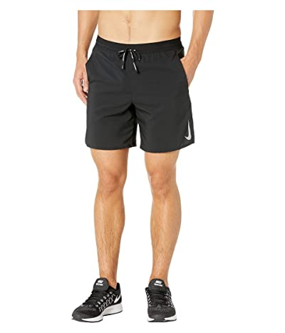 Nike Flex Stride Shorts 7 BF (Black/Metallic Silver) Men