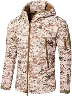 Waterproof Windproof Shell Tactical Jackets Mens Windbreaker Plus Size 5XL Military Camouflage Fleece Jacket