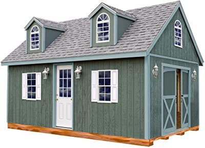 Amazon com : Richmond 16' x 28' Barn Wood Shed Kit : Garden & Outdoor