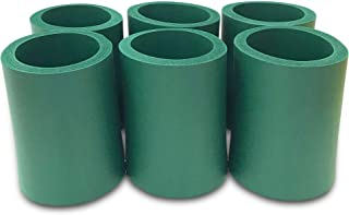 CSBD Blank Thick Beer Can Huggers Premium Quality Soft Drink Insulators Bulk, 6 Packs, Great For Monograms, DIY Projects, Weddings, Parties, Events (6, Hunter Green)