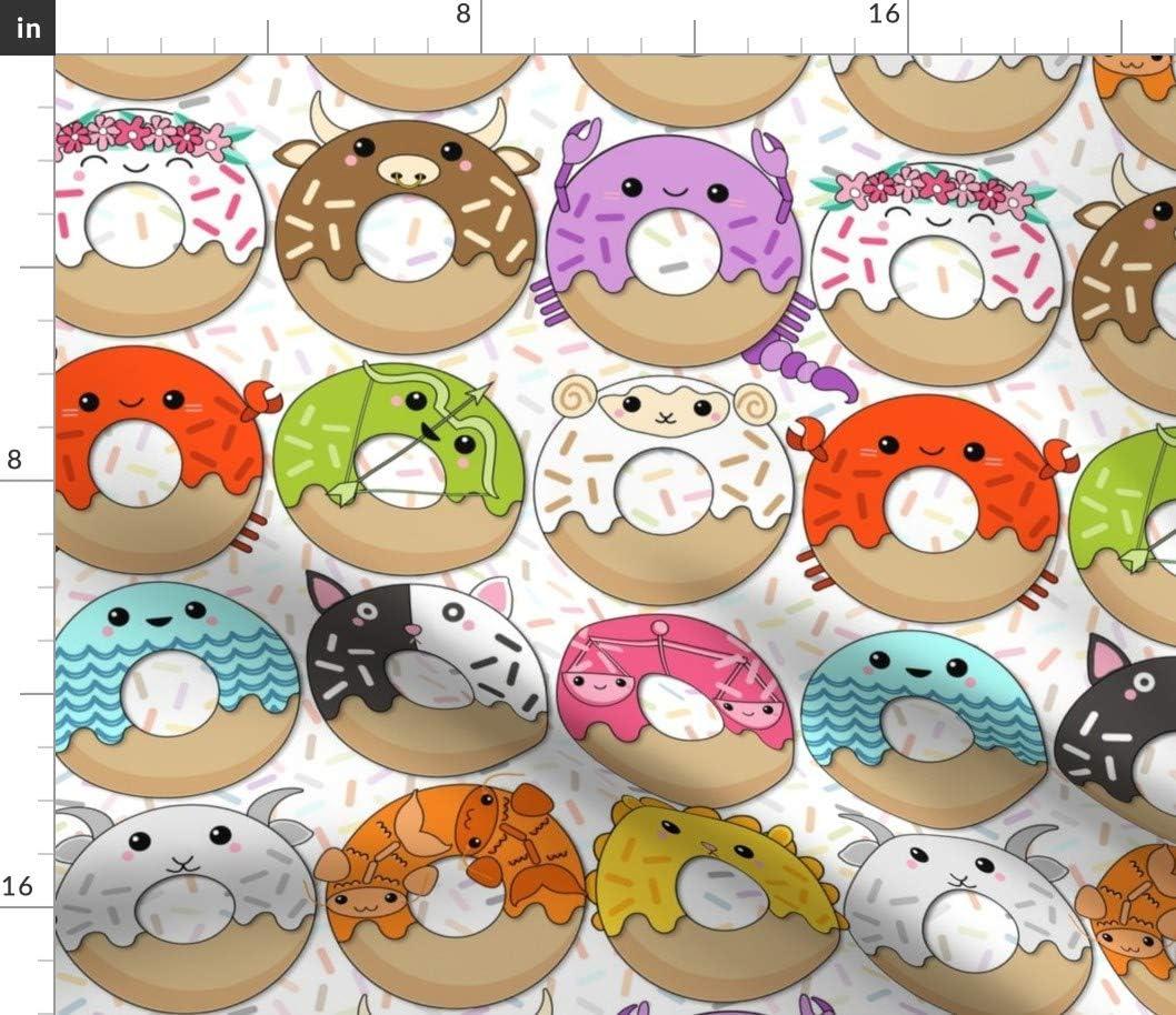 Spoonflower Fabric - Donuts Doughnut Crab 本物 Cat Bull Astrolo 格安 価格でご提供いたします Stars