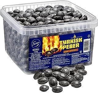 Fazer The Original Tyrkisk Peber - Turkish Pepper - Finnish - Caramel - Boiled - Hard - Salmiak - Salmiac - Salty Licorice - Pepper - Candies - Sweets - Box 2,2 kg
