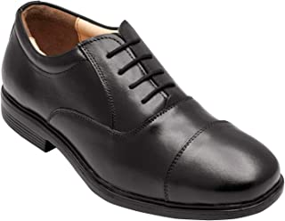 tZaro Light Weight Genuine Leather Formal Shoes MR Banker,ENGBLK2401