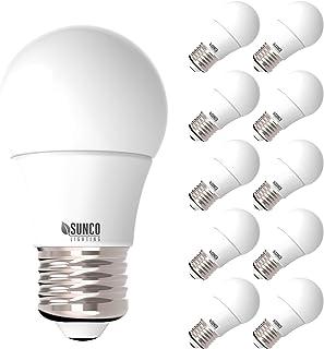 Sunco Lighting 10 Pack A15 LED Bulb, 8W=60W, 3000K Warm White,