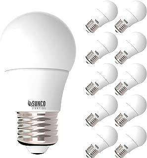 Sunco Lighting 10 Pack A15 LED Bulb, 8W=60W, 6000K Daylight Deluxe, Dimmable, 800 LM, E26 Base, Refrigerator & Fan Light - UL