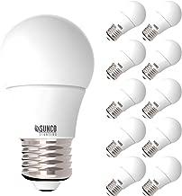 Sunco Lighting 10 Pack A15 LED Bulb, 8W=60W, 4000K Cool White, Dimmable, 800 LM, E26 Base, Refrigerator & Fan Light - UL, Energy Star