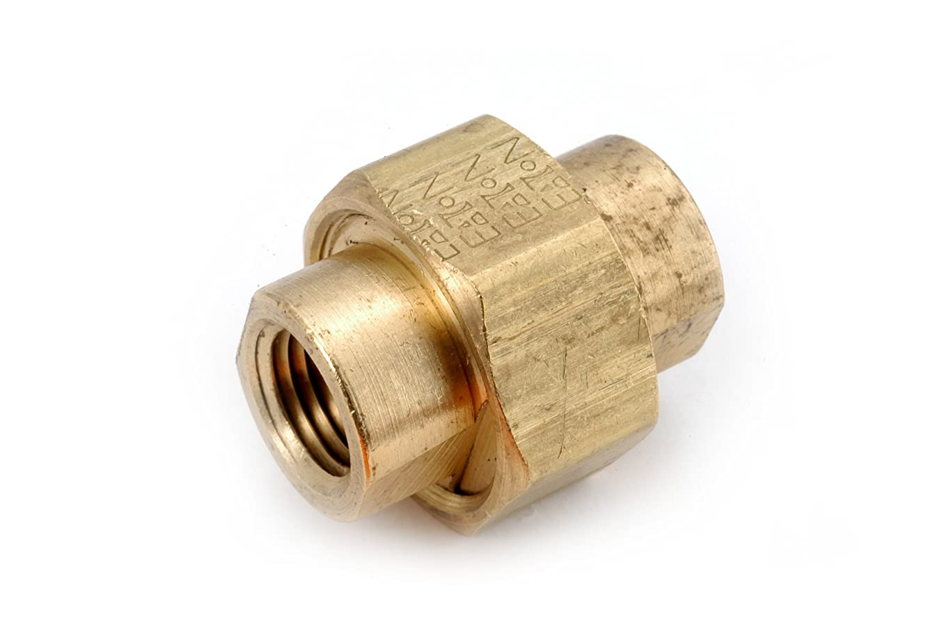 Anderson Metals 06104 Brass Pipe Fitting, Union, 1/4