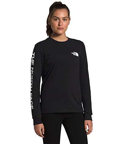 The North Face Brand Proud Long Sleeve Tee (TNF Black/TNF White) Women