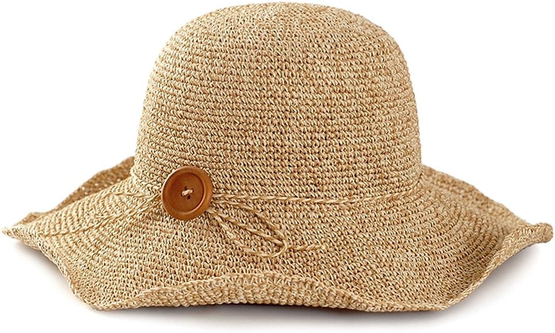 Chunlan Sun Hat Beach Hat Female Summer Straw Hat Seaside Sun Hat HandMade Folding Holiday Travel