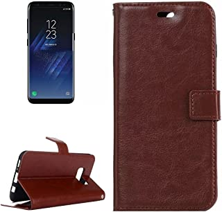Protective Case Compatible with Samsung Compatible Samsung Galaxy S8 Retro Crazy Horse Texture Horizontal Flip Leather Case with Holder & Card Slots & Wallet & Photo Frame Phone case (Color : Brown)