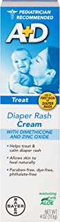 A+D Diaper Rash Cream Zinc Oxide, 4 Ounces (Pack of 2)