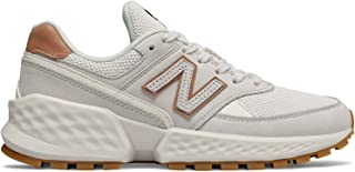 New Balance Women's 574 Sport V2 Sneakers Suede Off White
