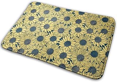 Non-Slip Doormats Floral Pattern Entrance Rug Indoor/Outdoor Carpet Absorbs Moisture Washable Dirt Trapper Mats