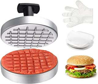 DoTo Hamburger Press Patty Maker 4.5 Inch,Non-Stick Burger Press for 1/4 to 1/2 Ib Beef Patty,Burger Press Patty Maker Set...