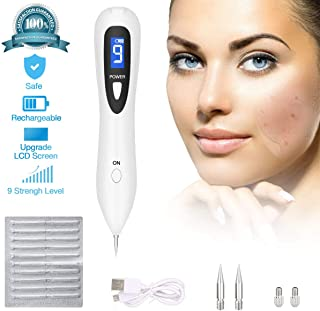 Skin Tag Repair Kit Multi Speed Adjustable Freckle & Tattoo Beauty Equipment Home USB Charging/LCD/10 Replaceable Needles