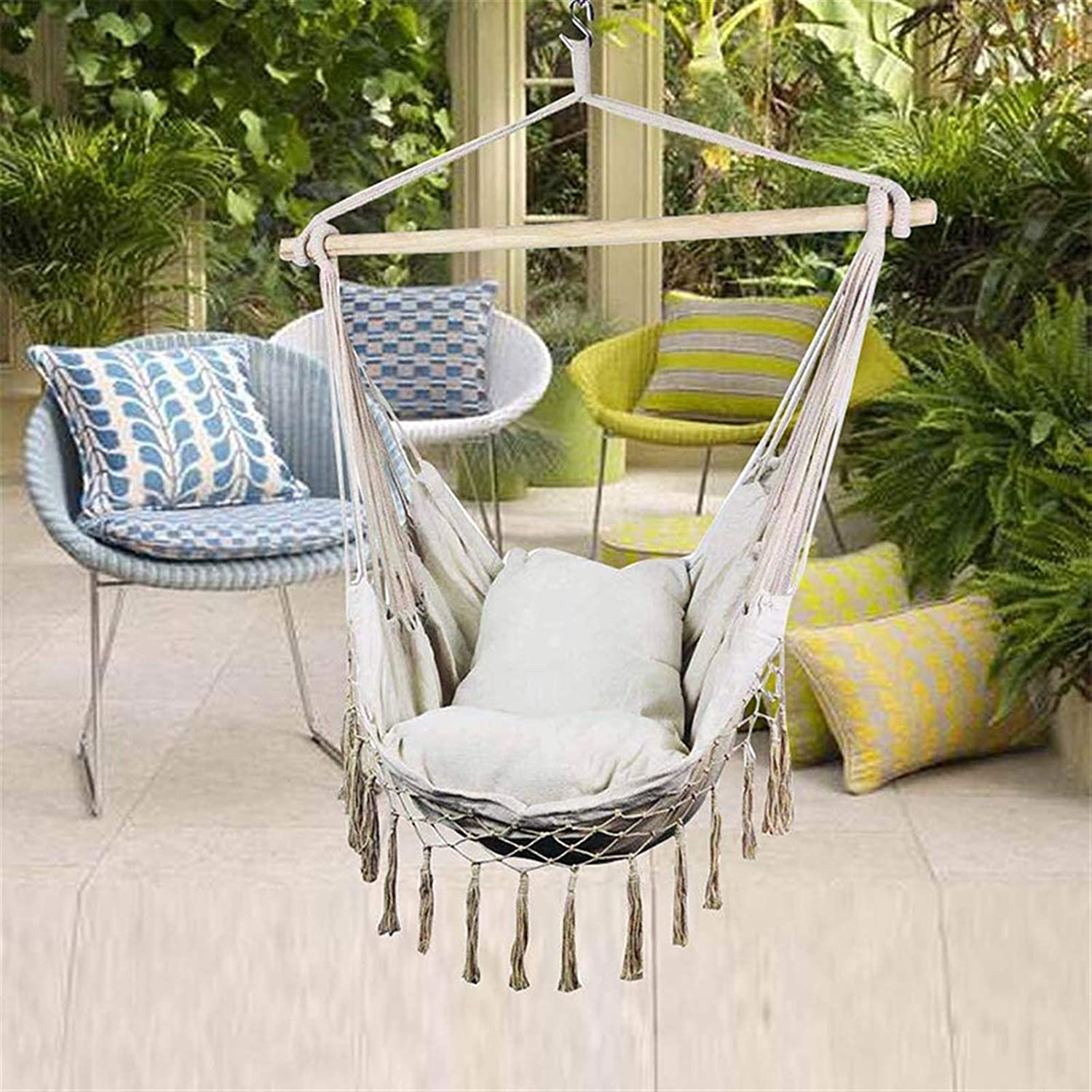 Brting Charlotte Mall Macrame Lounging Hanging Rope Porch Hammock Chair S Swing Popular overseas