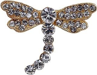 BeIilan Las Mujeres cristalino Colorido de la lib/élula en Forma de Collar Broche Broche de la aleaci/ón de Insectos