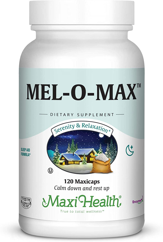 Maxi Health Mel-O-Max - Branded goods Melatonin Sleep with A Root Valerian Ranking TOP18