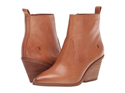 Frye Amado Wedge (Camel Antique Veg Tan) Women