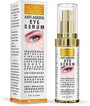 Anti Aging Eye Cream for Dark Circles, Eye Bags, Fine Lines, Puffiness. Best Anti Aging Eye Serum Moisturizer for Wrinkles, Crows feet, Puffy Eyes (15ml)