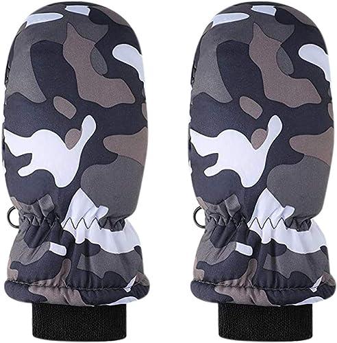 popular OPTIMISTIC Kids wholesale Winter Snow Mittens Waterproof Warm Ski Gloves Unisex Camouflage Gloves for Cold Weather lowest Children online sale