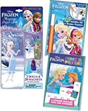 Lee Publications Disney Frozen No Mess Activity 3 Pack for Girls: Sticker Puzzler Pack, Invisible Ink Coloring Book, and Magnetic Dress Up Set