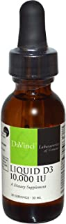 DaVinci Laboratories of Vermont, Liquid D3, 10,000 IU, 30 ml - 2pc