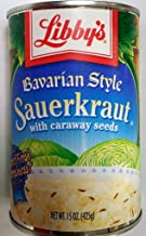 Libby's Bavarian Style Sauerkraut 14.5oz Can (Pack of 6)