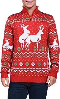 Men's Christmas Climax Sweater - Funny Humping Reindeer...