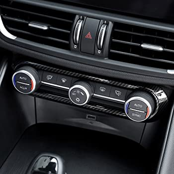 2/x Carbon Fiber Style per Stelvio 2017/2018/ABS plastica lato anteriore climatizzatore copertura telaio Trim