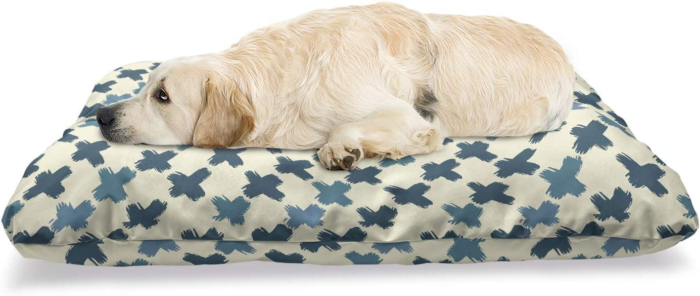 Ambesonne Geometric Pet Max 56% OFF Bed Continuous Outlet sale feature Pattern of Brushed Art D