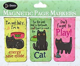 Divinity Funny Kitty Cat Magnetic Page Book Markers (27550), 3-ct