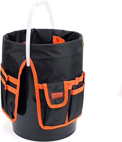 lowest HORUSDY new arrival Bucket Tool Organizer, for discount 5 Gallon Bucket, 1680D Polyester, Waterproof & Durable sale