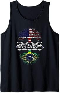 American Grown with Brazilian Roots Gift Apparel Brasilia Tank Top