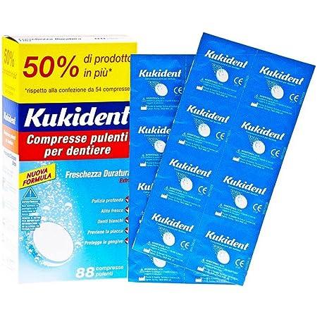 Kukident Kuk0100016 Capsule Pulenti Dentiere, 88 Compresse, 158.4 g