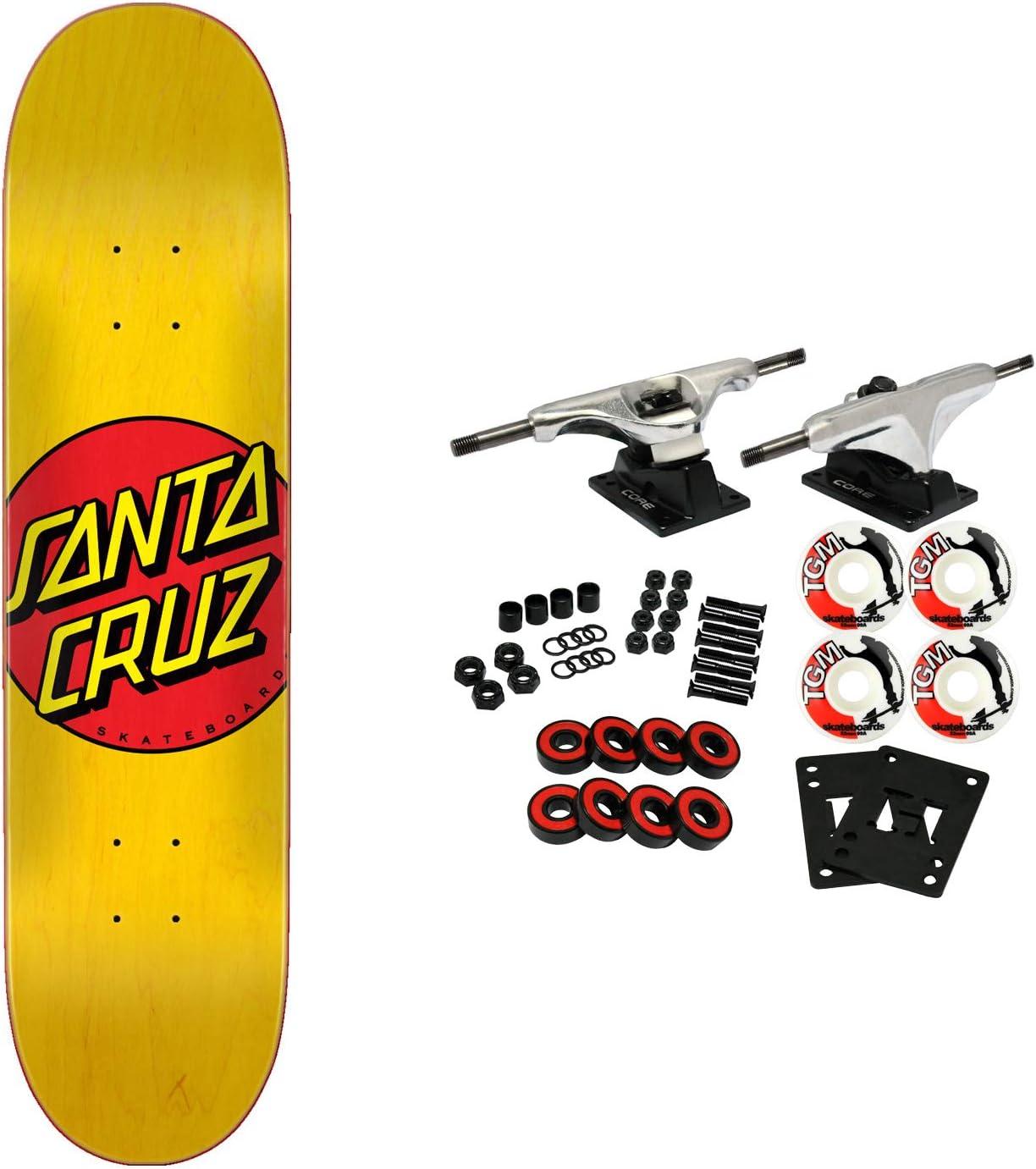 Santa Cruz Skateboard Complete Mesa Mall Classic Choice x Yellow Dot 7.75