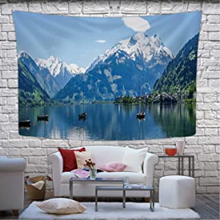 Hitecera Zeller See in Austria Tapestry Wall Hanging,169131 Wall Art for Bedroom,78.7''W x 59.1''H